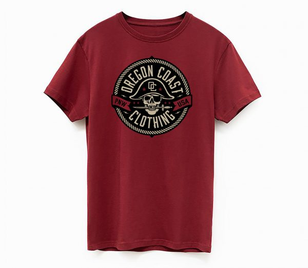 oregon coast tshirt pirate shirt