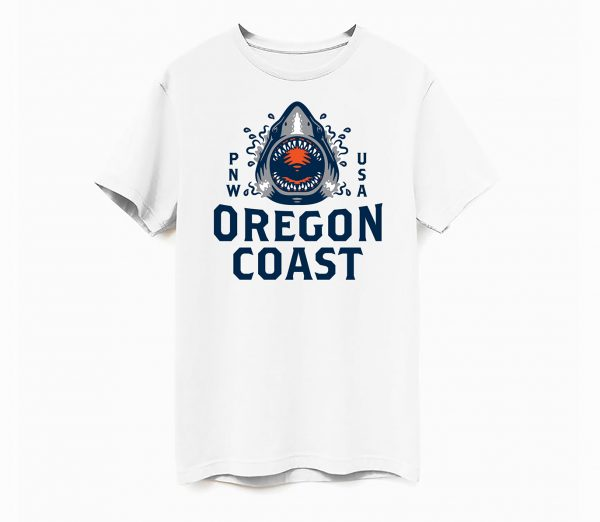 oregon coast tshirt jaws shirt